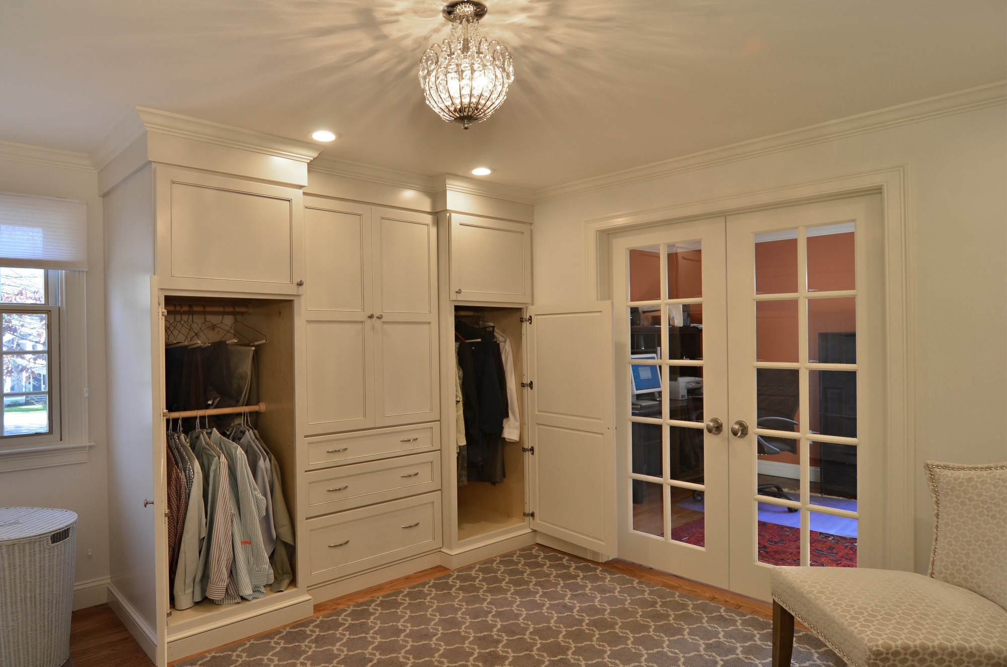 storybrook closets open | currier kitchens